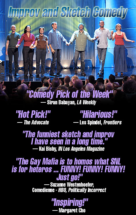 The Gay Mafia Improv and Sketch Comedy Cast